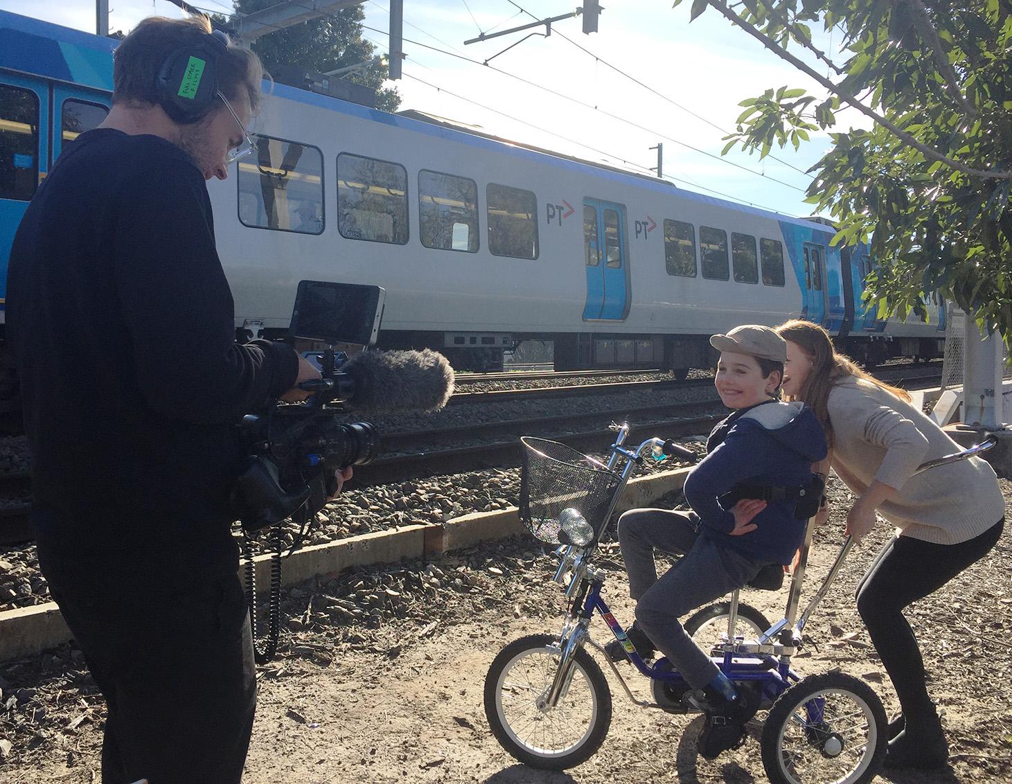 Josh Janssen filming Tristan and Nellie Photo Clement Paligaru