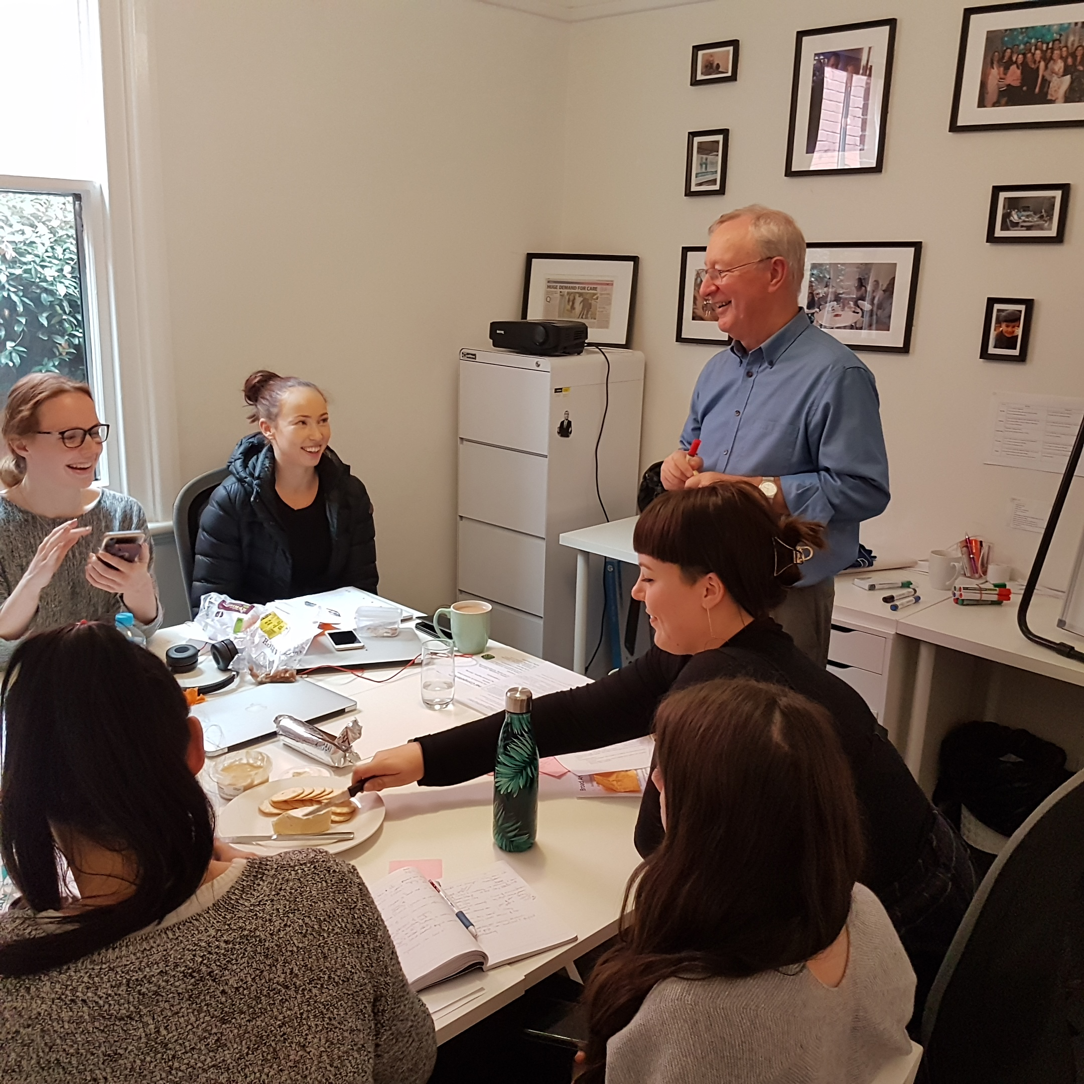 John Armstrong in a meeting with all Relationship Managers. Copyright Hearth 2019.