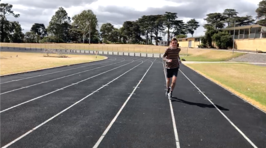 Billy training for Run Melbourne